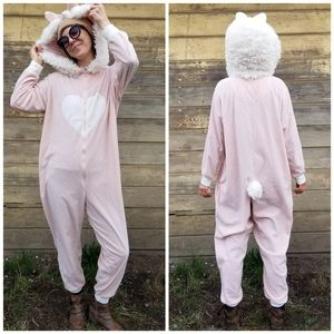 Xhilaration | fleece polka dot bunnie onesie